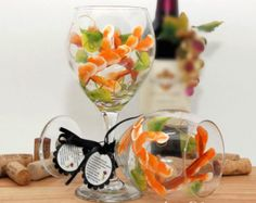 Huge 20oz dishwasher safe painted wine glasses.  All wine glasses come with a crush proof branded gift box. FREE personalization. Click for more info. Super fast delivery.