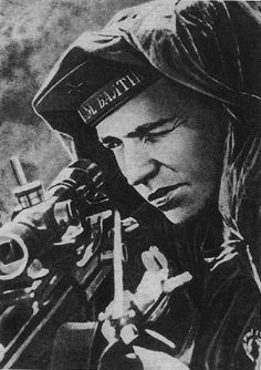 """Ivan Sidorenko, a soviet sniper who have a confirmed kill 500 Nazis and trained over 250 snipers.For his actions he was awarded the """"Hero of the Soviet Union"""". World History, Art History, British History, Rifles, Deadly Females, Soviet Navy, Sniper Training, Germany Ww2, Total War"""