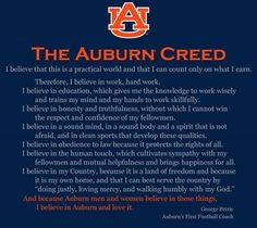 I believe in auburn and love it!!