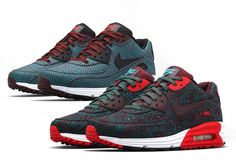 """In the last iteration, Nike has provided consumers with a unique aesthetic of its Nike Air Max Lunar90 series by dropping the Nike Sportswear """"Suit and Tie"""" Collection. The collection features the Lunar90 outfitted in graphic patterns typically found on business attire. Both silhouettes incorporates a Hyperjade and Burgundy jacquard upper, all while utilizing styled paisley and herringbone patterns that gives each shoe its own distinction. The Lunar90 still maintaining performance-inspired…"""