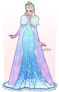 Sunset Dragon is creating Cosplay Designs Disney Princess Fashion, Disney Princess Art, Disney Style, Frozen Drawings, Disney Drawings, Disney Artwork, Disney Fan Art, Cute Disney, Disney Girls