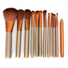 12PCS Makeup Brushes Set Professional Make Up Brush Kit Powder Blush Contour Foundation Cosmetic pincel maquiagem Beauty Tools #Affiliate
