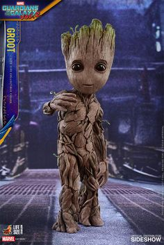 Fan-favorite figure makers Hot Toys have revealed their life-size Baby Groot figure from Guardians of the Galaxy Vol. Get your own Baby Groot next year! The Avengers, Baby Groot Drawing, Starlord And Gamora, Marvel Universe, Guardians Of The Galaxy Vol 2, Groot Guardians, I Am Groot, Avengers Wallpaper, Galaxy Art