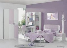 Color lila, una buena opción para decorar la habitación