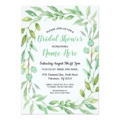 #bridal #shower #invitations - #Bridal Shower Invite Neutral Garden Party Nature