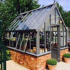 A Victorian Planthouse greenhouse by Hartley Botanic. #greenhouse #greenhouses #glasshouse #glasshouses #garden #gardens #gardening #gardenchat #bespoke #HartleyBotanic