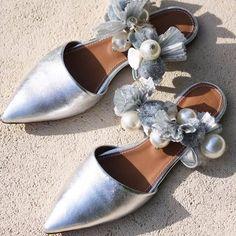 Toe Ring Sandals, Peep Toe Flats, Ankle Strap Flats, Mules Shoes Flat, Flat Sandals, Wedding Slippers, Leopard Sandals, Types Of Heels, Make A Change