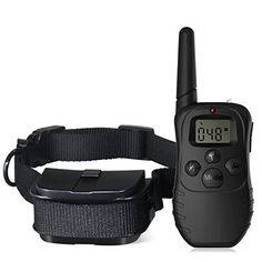 Dog Training Collar, Breett Dog Shock Collar of 330 YD Remote Control with LCD Light, Beep, Vibration shock ** Read more reviews of the product by visiting the link on the image.