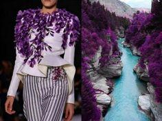 Diseños de vestidos inspirados en la naturaleza. Instagram