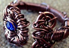"Custom, Entwined Artwear & Gifts Swarovski Crystal Artwear Ring ""Entwined"" With Copper."