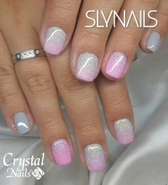 Nail art Christmas - the festive spirit on the nails. Over 70 creative ideas and tutorials - My Nails Manicure Y Pedicure, Shellac Nails, Nude Nails, Glitter Nails, Fabulous Nails, Perfect Nails, Sns Nails Colors, Summer Toe Nails, Dipped Nails