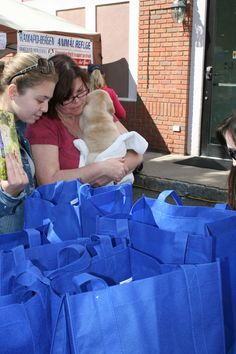 Ridgewood Veterinary Hospital Goodie Bags for those that adopted on Adopt-A-Pet Day.