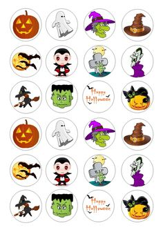 24 Halloween Iced / Icing / Frosting Cupcake Topper Edible Fairy Cake Toppers | eBay
