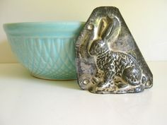 Antique Chocolate Mold / Rustic Farmhouse / Autumn Baking / Patina / Rabbit / French Country. $29.00, via Etsy.