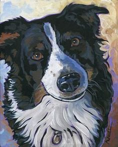 Nadi Spencer is a full-time artist who paints every day of the year creating acrylic and watercolor art. See the links below for more information or to #DogPainting
