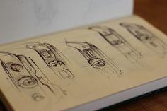watch drawing on moleskin by Julien DELCAMBRE