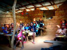 escola, alunos, África, Guiné-Bissau, sala de aula