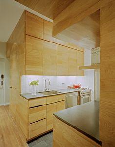 kitchen Interiors: East Village Studio Apartment by Jordan Parnass Digital Architecture, New York