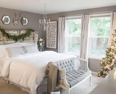 Master bedroom inspiration - Fashion Gray by Behr. House of Five