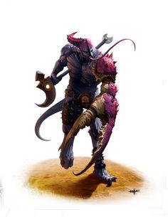 """haaaaaaaaave-you-met-ted: """"Slaneesh by """" Warhammer 40k Art, Warhammer Models, Warhammer Fantasy, Fantasy Warrior, Fantasy Rpg, Fantasy Battle, Dark Fantasy, Weird Creatures, Fantasy Creatures"""