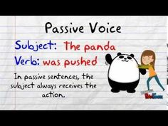 The Active and Passive Voice - YouTube
