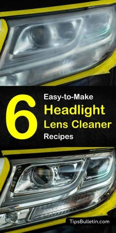 Restore your car's headlights using one of our six homemade headlight lens cleaner recipes. Our cleaners provide amazing results. Clean Foggy Headlights, Cleaning Headlights On Car, Car Headlights, Homemade Glass Cleaner, Cleaners Homemade, Car Cleaning Hacks, Deep Cleaning, Car Hacks, Headlight Lens