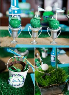 Golf Birthday Party Desserts Table #golf #birthday