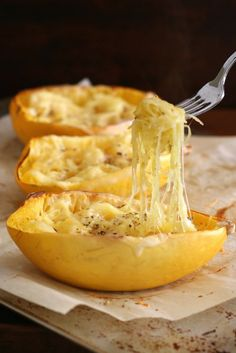 Make this twice baked spaghetti squash for dinner.