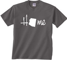 """Arizona Home state t shirt.Great present for that someone that loves or lives anywhere in Arizona. We also have the """"Love Arizona"""" version."""