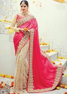Classy Satin and #Net #Partywear #Saree