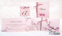 """Set de nunta, cu flori de cires """"Cherry Blossom""""."""