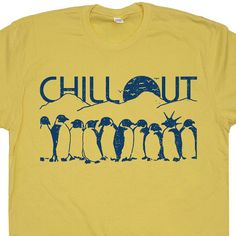 Penguins+Chill+Out+T+Shirt+Funny+Vintage+Soft+by+Shirtmandude
