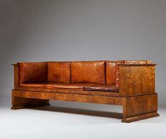 "Modernity Stockholm på Instagram: ""Three seater sofa designed by Kaare Klint, manufactured by cabinetmaker N.M. Rasmussen. Holbæk. H. Denmark in 1916. Made of Oak burl and…"""