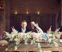 bright summer flowers wooden box crate ceremony table shustoke farm barns summer wedding florist passion for flowers