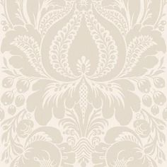 The Wallpaper Company 8 in. x 10 in. Greige Large Scale Damask Wallpaper Sample-WC1281855S - The Home Depot