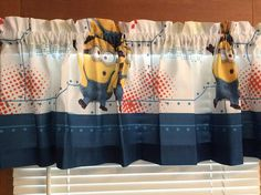 Minions/Despicable Me Window Valance  Extra by CheriesSewCrafty