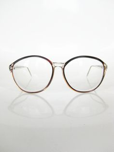 Vintage OVERSIZED Cat Eye Womens Glasses Eyeglasses Optical Frames 1960s Indie HIpster Classic Dark Brown