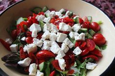 """Take a closer look at #Food24's Peppadew and Feta Salad. It is easy to prepare, tastes yummy, great for lunch or dinner, and has no carbs.   Hit """"LIKE"""" if it looks delicious!   Get Recipe >> http://ht.ly/oI2oW"""