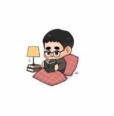 Exo Fan Art, Kyungsoo, Chibi, Fanart, Cartoon, Fan Art, Cartoons, Comics And Cartoons