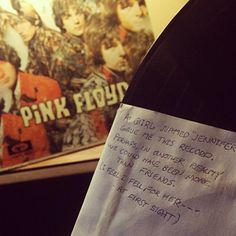 Poignant note found inside a copy of Pink Floyd's 'Piper at the Gates of Dawn.'