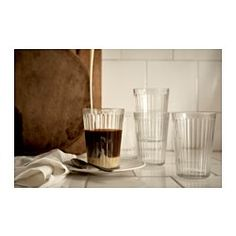 IKEA - VARDAGEN, Glass, 7 oz, , Also suitable for hot drinks.Made of tempered glass, which makes the glass durable and extra resistant to impact.