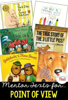 Primary mentor text suggested book list for Point of View- focusing on how characters in the text feel about other characters or events that happen- also can compare to the way that readers feel about story, too- Reading Lessons, Reading Skills, Teaching Reading, Teaching Activities, Teaching Ideas, Learning, Comprehension Strategies, Reading Strategies, Reading Comprehension