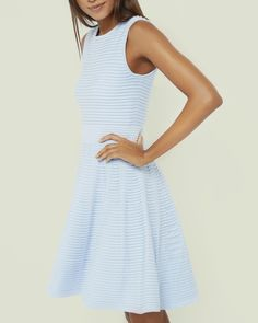 a7bebe4fae21a Ted Baker Ottoman Ribbed Dress Pale Blue Pale Blue Dresses