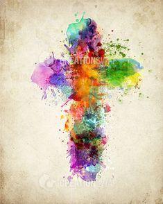 Splattered Cross