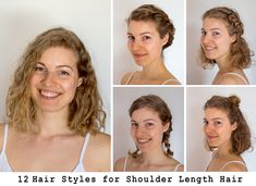shoulder length Bob 12 Easy Hairstyles For Shoulder Length Hair Twisty Hairstyles, Heatless Hairstyles, Choppy Bob Hairstyles, Down Hairstyles, Easy Hairstyles For Medium Hair, Line Bob Haircut, Haircut For Thick Hair, Shoulder Hair, Shoulder Length Hairdos