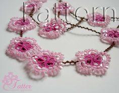 Tatting Pattern PDF Spring Flower Necklace by JTatter on Etsy
