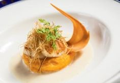 Pan-Seared Day Boat Scallops with Fennel Sauce and Vanilla-Scented Sweet Potato Puree | Grand Strand Magazine