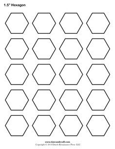 Printable hexagon templates for your creative craft or project printable hexagon templates for your creative craft or project can be used for decorations stencils labels and printable stickers pronofoot35fo Choice Image