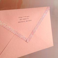 Glitter tape envelope