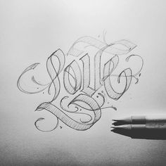 Nothing but love for this type sketch by @jexpo76 | #typegang - typegang.com | typegang.com #typegang #typography
